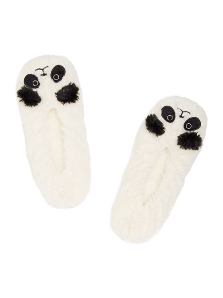 Totes Panda footsie slipper socks