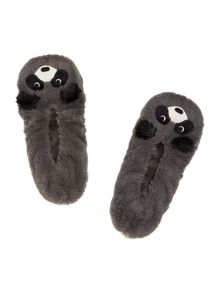Totes Racoon footsie slipper socks
