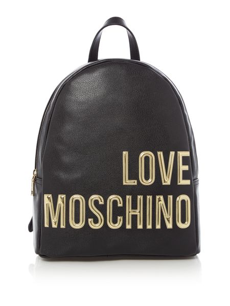 Love Moschino Gold letters backpack bag