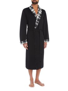 Hugo Boss Checked Shawl Collar Robe