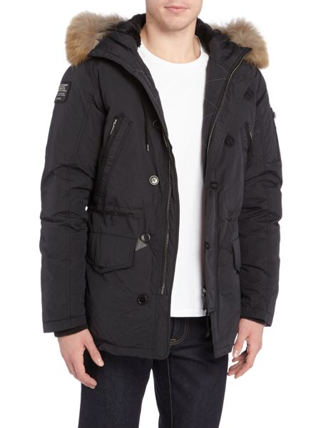 Schott NYC USN-L fur lined down padded parka