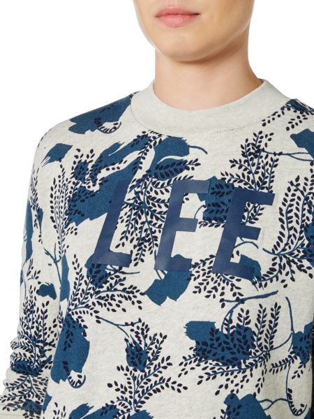 Lee Long sleeve logo crew neck sweater