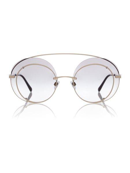 Armani Jeans Gold round AR6043 sunglasses