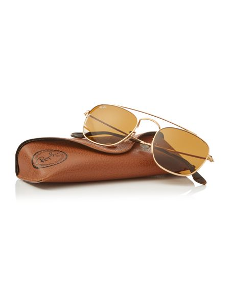 Ray-Ban Gold square RB3557 sunglasses