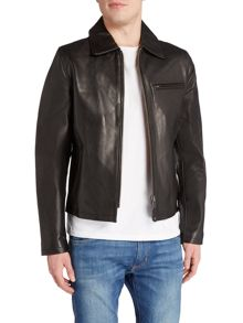 Schott NYC LC5142 Leather zip though jacket