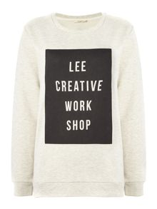 Lee Long sleeve printed crew neck sweater