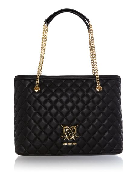 Love Moschino Superquilt chain shoulder tote bag