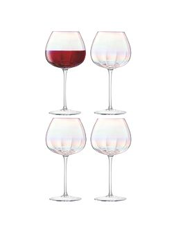 Pearl red wine glass 460ml set of 4