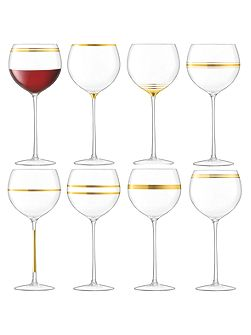Deco wine goblet 525ml gold assorted set of