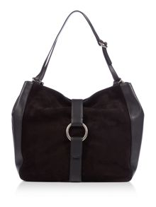 Michael Kors Quincy black shoulder  tote bag