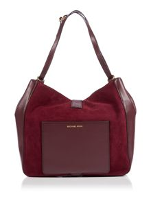 Michael Kors Quincy purple shoulder  tote bag