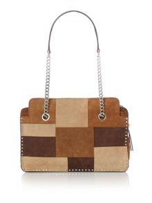Michael Kors Astor tan large shoulder bag