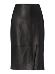Hugo Boss Seylise Leather Pencil Skirt