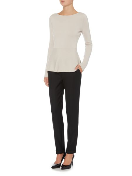 Hugo Boss Acnes Textured Slim Turn-Up Trouser