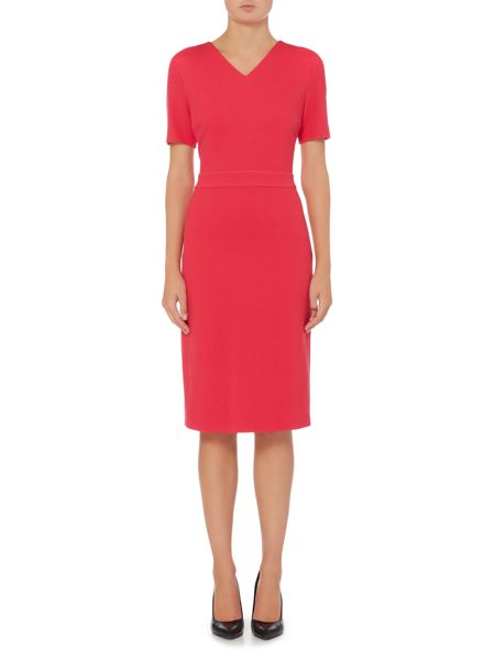 Hugo Boss Helala V-Neck Short Sleeve Pencil Dress