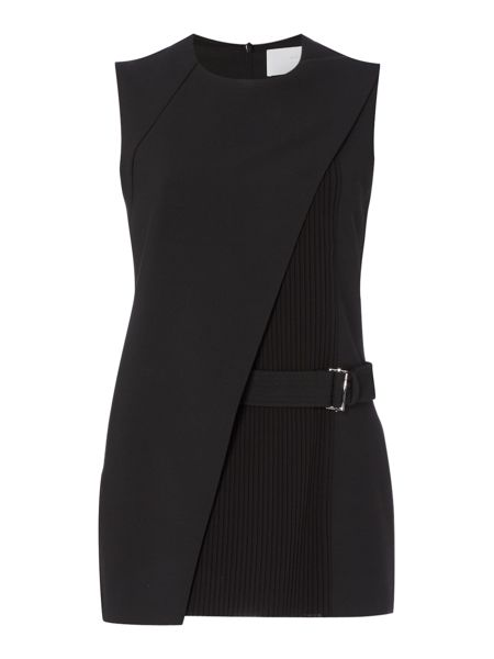 Hugo Boss Iakila Belted Asymmetric Pleated Top