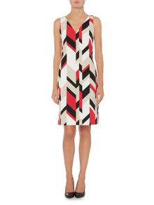 Hugo Boss Dephani1 V-Neck Printed Shift Dress