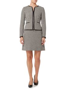 Hugo Boss Koralena Zip Through Tweed Jacket
