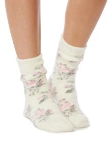 Linea Floral supersoft lounge sock