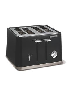 Aspect steel 4 slot toaster, black