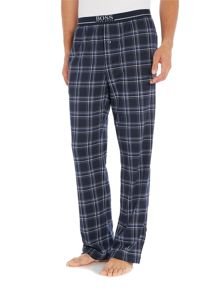 Hugo Boss Interlock Logo Waistband Checked Pyjama Trousers