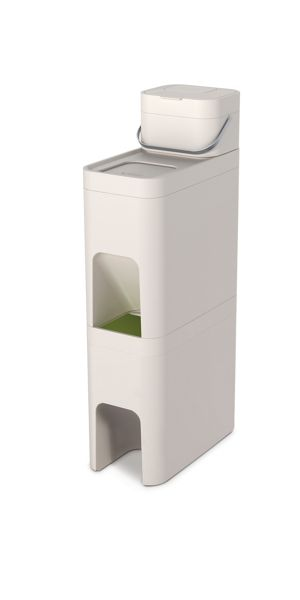Joseph Joseph Stack recycling bin with food waste caddy, 52L