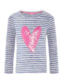 Joules Girls Sequin Heart T-Shirt