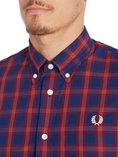 Fred Perry Long Sleeve Tartan Gingham Mix Shirt