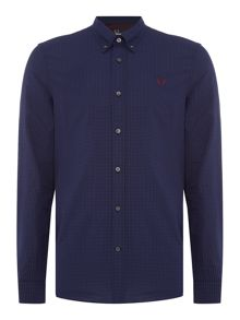 Fred Perry Long Sleeve Micro Gingham Shirt