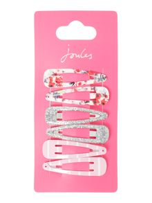 Joules Girls 3 Pack Clips Floral