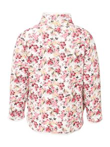 Joules Girls Sweat Long Sleeve Zip Floral