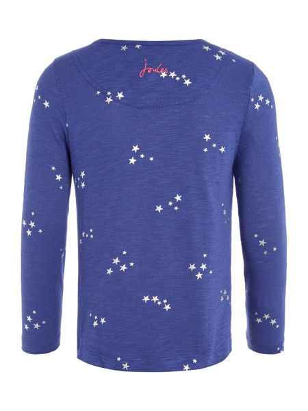 Joules Girls Long Sleeve Star Print Top