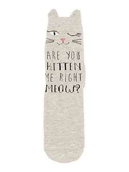 Are you kitten me right meow sock