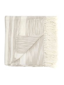 Linea Malo stripe throw, natural