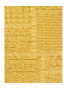 Living by Christiane Lemieux Tile matelasse sham, citrine