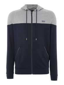 Hugo Boss Colour Block Zip-Up Hoodie