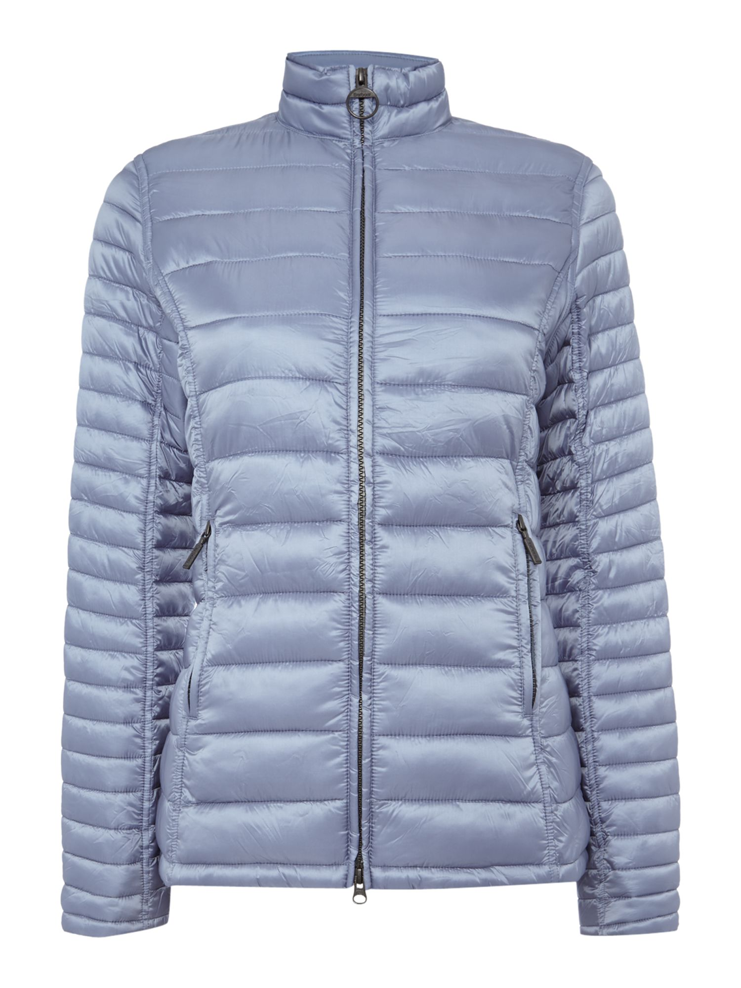 Barbour Clyde Short Baffle Quilted Jacket, Blue