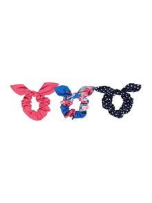 Joules Girls Accessories Floral Hair Scrunchies