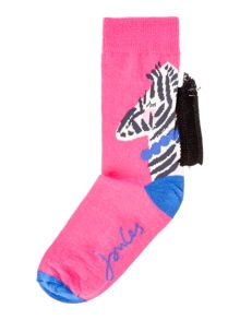 Joules Girls Zebra Sock