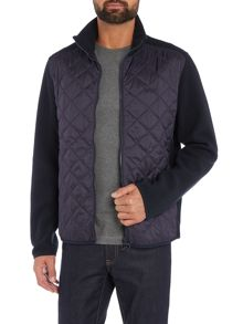 Barbour Trefoil quilted body full zip fleece