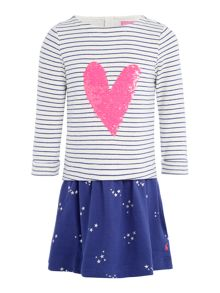 Joules Girls Sequin Heart Dress