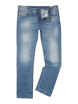 Waykee 0842H straight fit mid wash jeans
