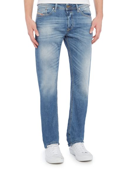 Diesel Waykee 0842H straight fit mid wash jeans