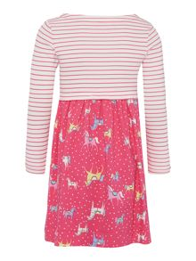 Joules Girls Dress Long Sleeve Stripe