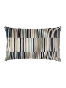 Linea Vannes embroidered stripe cushion