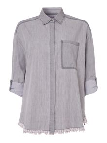 Label Lab Madsen denim twill shirt