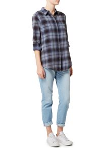 Label Lab Walken acid wash check shirt