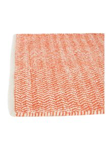 Living by Christiane Lemieux Zig zag burnt orange bath mat