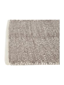Living by Christiane Lemieux Zig zag grey bathmat
