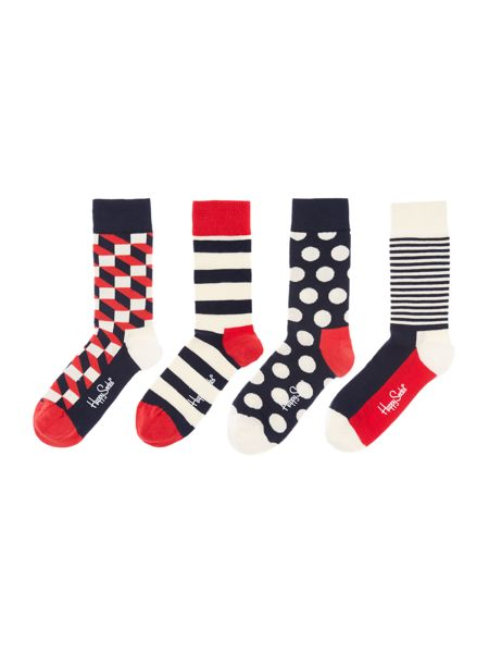 Happy Socks 3 pair pack ankle socks gift box